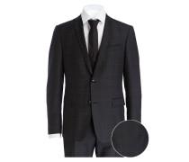 Anzug CALE-MADDEN Extra Slim-Fit - schwarz