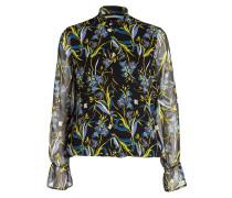 Bluse EBONY - schwarz/ blau/ gelb