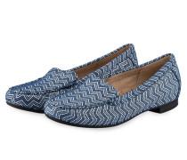 Slipper ZILLY - blau, weiss