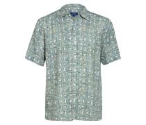 Halbarm-Hemd Relaxed Fit aus Leinen