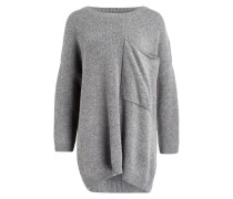 Oversized-Pullover - grau