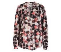 Bluse - rosa/ grau/ weiss