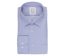 Hemd Custom-Fit - blau/ rosa