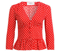 Bluse CARLO - rot/ weiss