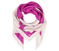 Seidentuch - pink/ creme