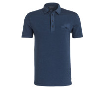 Poloshirt Shaped-Fit - blau