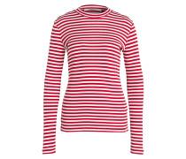 Pullover - rot/ weiss gestreift