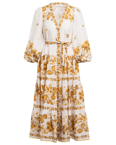 Hemdblusenkleid AMELIE aus Leinen