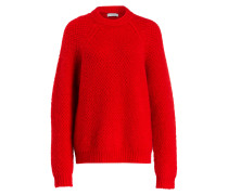 Pullover mit Mohair-Anteil - rot