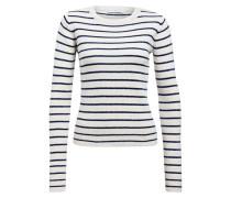 Pullover - weiss/ blau gestreift