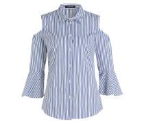 Bluse - blau/ offwhite gestreift