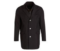 Mantel mit abnehmbarer Blende - schwarz