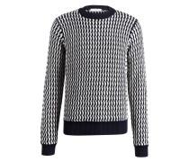 Pullover - marine/ weiss
