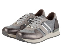 Sneaker - silber metallic/ grau meliert