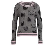 Pullover mit Cashmere-Anteil - grau/ rosa