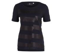 T-Shirt mit Paillettenbesatz - navy