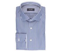 Hemd tailored fit - weiss/ blau