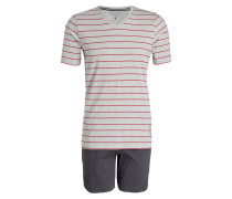 Shorty-Schlafanzug - grau