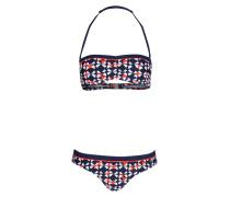 Bandeau-Bikini LORA - marine/ weiss/ rot