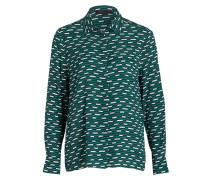 Bluse CLELIA - navy/ grün/ weiss