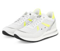 Plateau-Sneaker NANCY 4 - WEISS/ NEON GELB