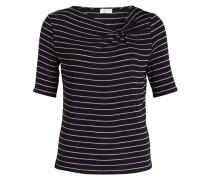T-Shirt - navy/ silber