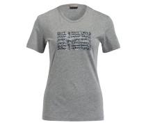 T-Shirt SAS mit Paillettenbesatz - grau