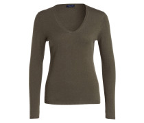 Cashmere-Pullover - olive