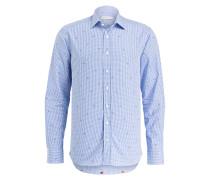 Hemd Regular-Fit - weiss/ blau kariert