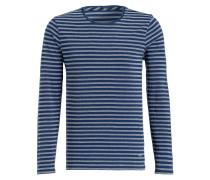 Piqué-Langarmshirt SIGNATURE - blau