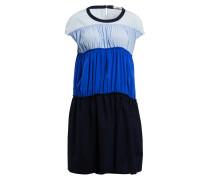 Seidenkleid - dunkelblau/ blau/ hellblau
