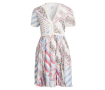 Silk Chiffon Dress - weiss