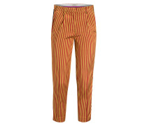 7/8-Hose aus Seide - orange