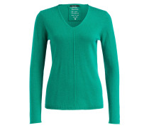 Pullover mit Cashmere-Anteil - grün