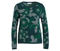 Pullover - dunkelgrün/ grün/ weiss