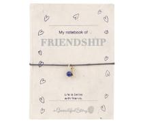 Armband und Notizbuch FRIENDSHIP - blau