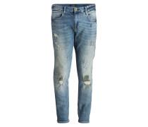 Destroyed-Jeans TYE Slim Carrot-Fit