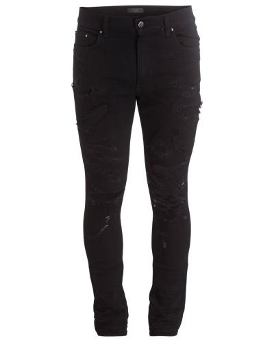 Destroyed-Jeans Skinny-Fit - schwarz