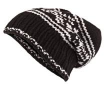 Cashmere-Mütze SMILLA - schwarz/ hellgrau