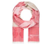 Schal - pink/ ecru