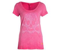 T-Shirt HEAD mit Paillettenbesatz - rosa