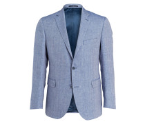 Sakko Shaped-Fit mit Leinenanteil - blau