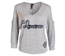Shirt ROMANCE mit 3/4-Arm - grau meliert