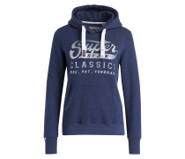 Hoodie CLASSICS ENTRY - navy meliert