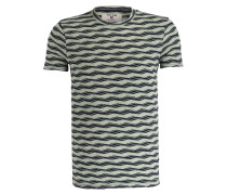 T-Shirt - grün/ dunkelblau