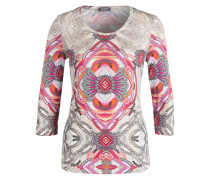 Shirt mit 3/4-Arm - pink/ grün/ grau