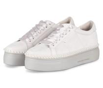 Plateau-Sneaker NANO mit Perlenbesatz