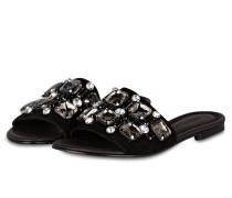 Sandalen ELLE mit Schmucksteinen - schwarz