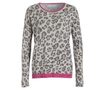 Pullover - hellgrau/ dunkelgrau/ pink