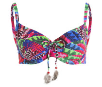 Bügel-Bikini-Top MACAW - blau/ pink/ grün